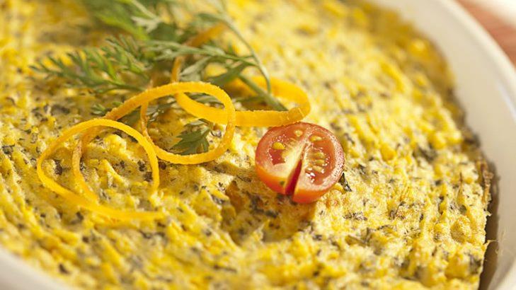 Foto de: Suflê de cenoura com talos e ramas
