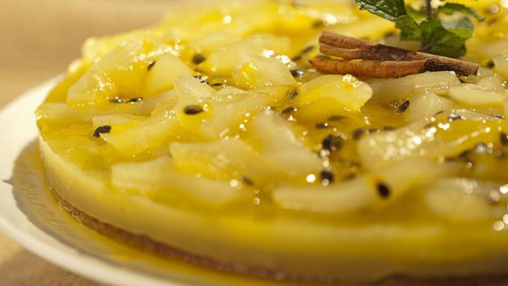 Foto de: Torta de batata yacon com maracujá