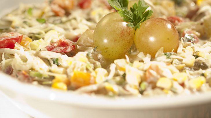 Foto de: Salpicão de repolho com uva