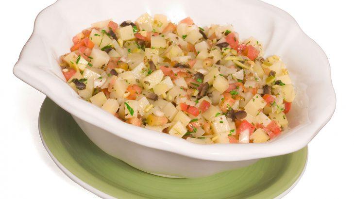 Foto de: Salada de batata com casca de laranja