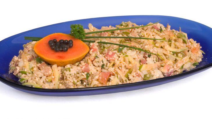 Foto de: Salada de mamão com aveia