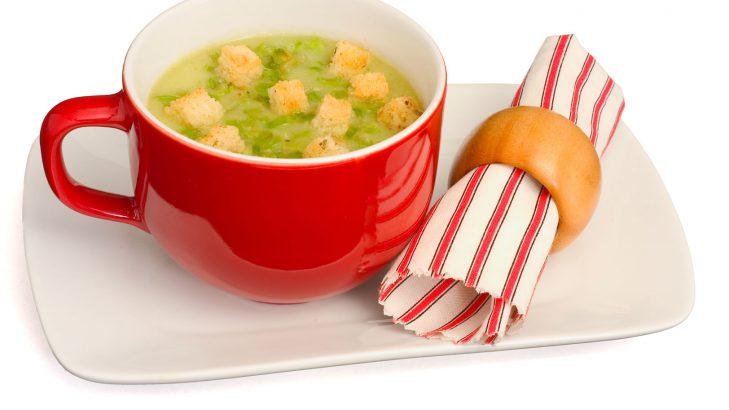 Foto de: Sopa de talos de brócolis