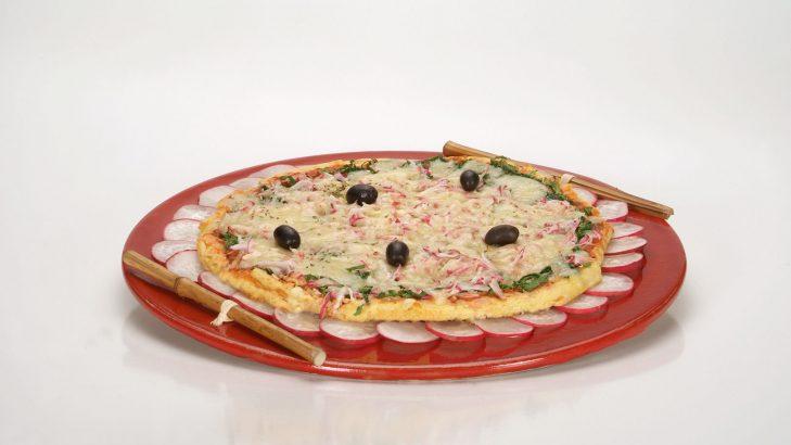 Foto de: Pizza de arroz com rabanete