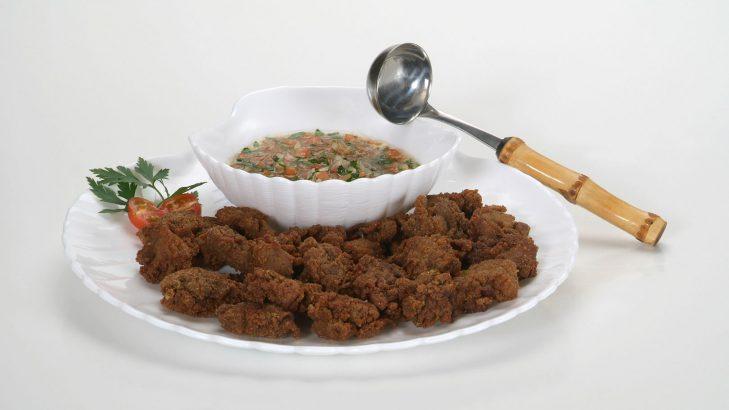 Foto de: Salada de fígado de galinha