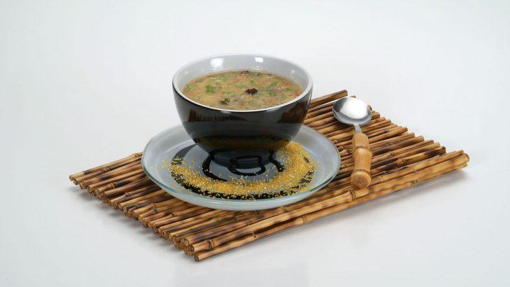 Foto de: Sopa de coração com canjiquinha