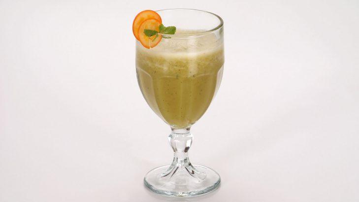 Foto de: Vitamina de chuchu com laranja